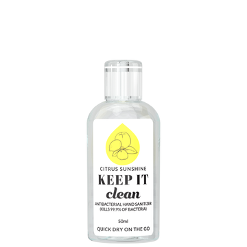 KEEP IT Clean Antibacterial Hand​ Sanitizer Citrus Sunshine 50 ml