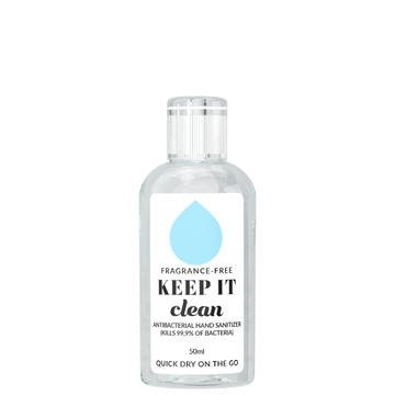 KEEP IT Clean Antibacterial Hand​ Sanitizer Fragrance-Free 50 ml