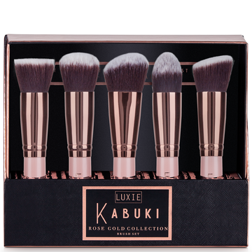 Luxie Rose Gold Kabuki Brush Set