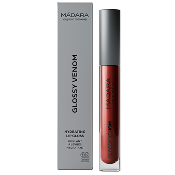 Mádara Glossy Venom Hydrating Lip Gloss Vegan Red