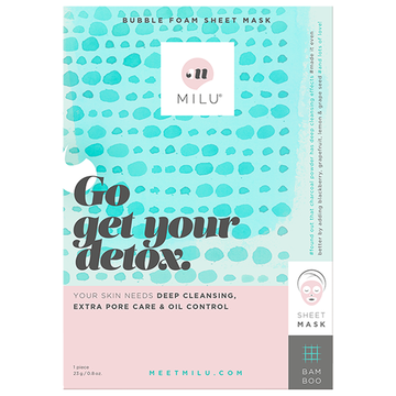 MILU Go Get Your Detox Bubble Foam Sheet Mask