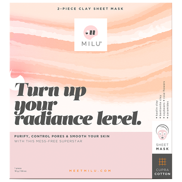 MILU Turn Up Your Radiance Level Clay Sheet Mask