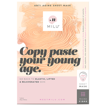 MILU Copy Paste Your Young Age Anti Aging Sheet Mask