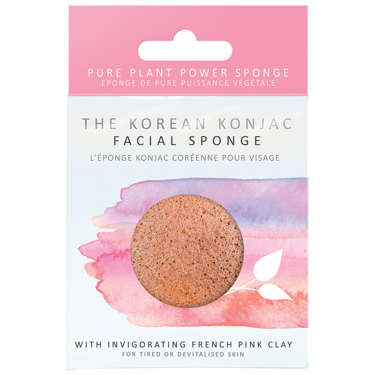 Konjac Sponge French Pink Clay