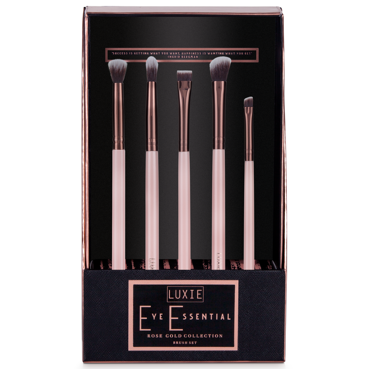 Luxie Rose Gold Eye Essential Brush Set